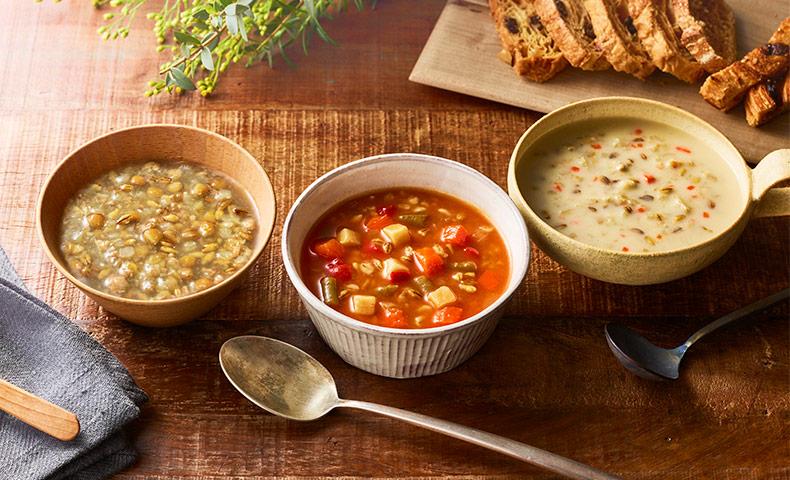 食物繊維たっぷりレトルトスープ